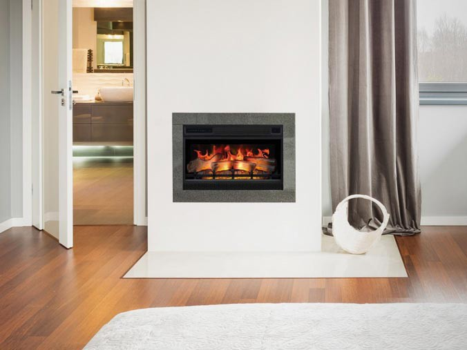 Build in electric fireplace