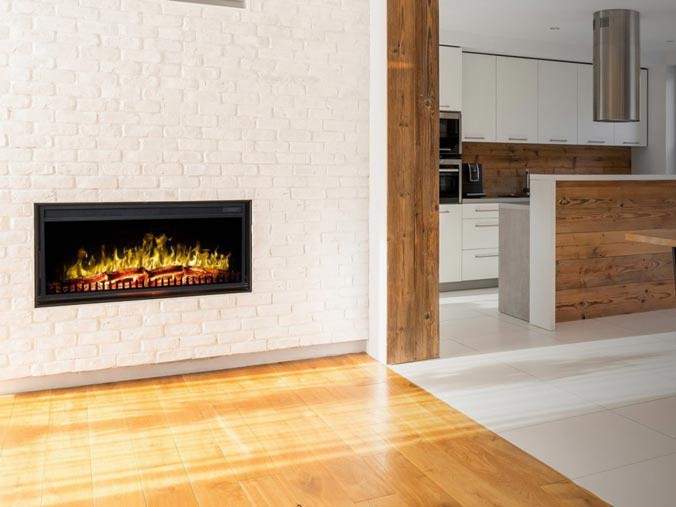 Classic bulit in electric fireplace