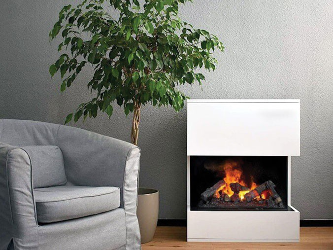 Freestanding Opti Myst Fireplaces With Water Vapor Flame